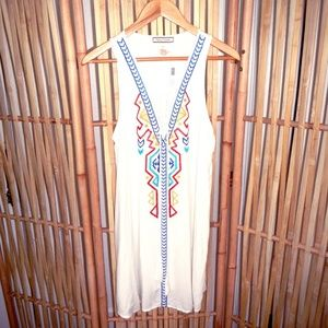 Other - White Embroidered Flying Tomato Beach Coverup